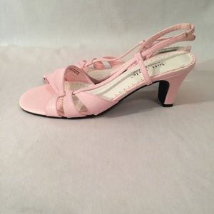 New Soft Style by Hush Puppies Pink Sandal Heel